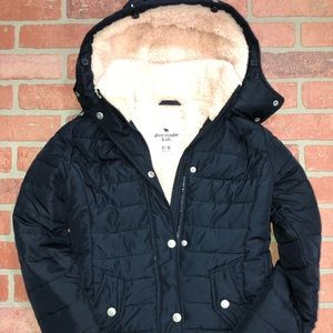 Abercrombie kids girls Puffer jacket coat 9/10